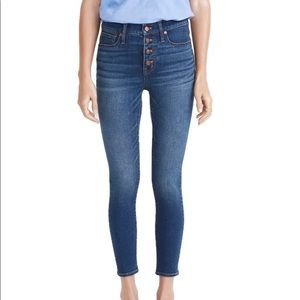 Madewell Button Front Skinny Crop